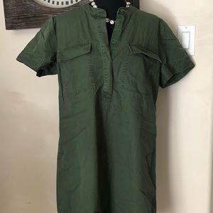 JCrew military style shirt dress